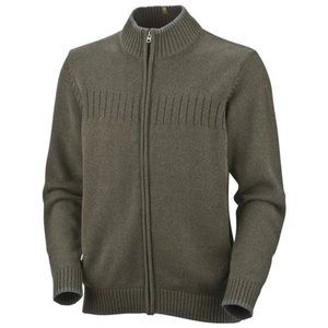 Columbia ROC Brown Full Zip Sweater Size Medium